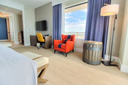 Living Area | The Waterfront Beach Resort, a Hilton Hotel