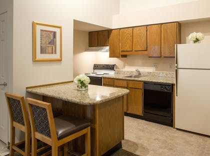 In-Room Kitchen | Cloverleaf Suites Lincoln Nebraska