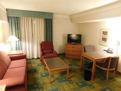 Living Room | Days Inn & Suites by Wyndham Arlington Heights