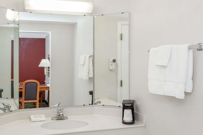 Bathroom | Days Inn & Suites by Wyndham Arlington Heights