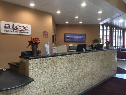 Reception | Alex Hotel & Suites Anchorage Airport