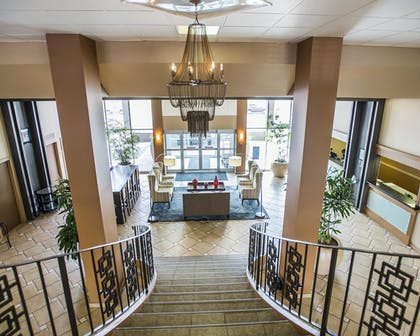 Staircase | Quality Inn & Suites Denver Stapleton