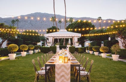 Outdoor Banquet Area | Avalon Hotel and Bungalows Palm Springs
