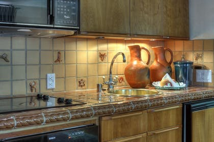 In-Room Kitchen | Dinah's Garden Hotel
