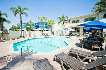 Outdoor Pool | Hotel d'Lins Ontario Airport