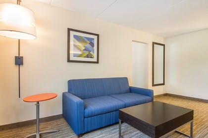 Living Area | Holiday Inn Express and Suites Albany Airport- Wolf Road