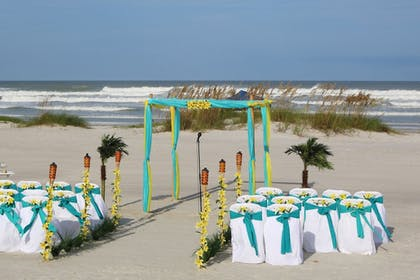 Outdoor Wedding Area | Guy Harvey Resort on St Augustine Beach