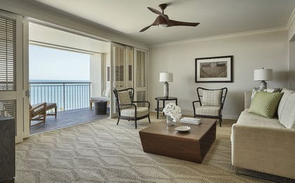 | Oceanfront One-Bedroom Suite + King Oceanfront Room + 2 Double Oceanfront Room | Four Seasons Resort Oahu at Ko Olina