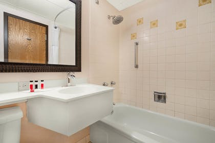 Bathroom | Ramada by Wyndham Albert Lea