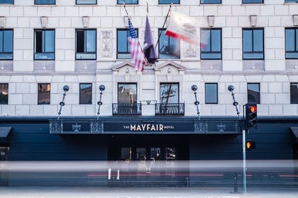 Hotel Front | The Mayfair Hotel Los Angeles