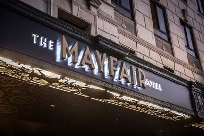 Hotel Front - Evening/Night | The Mayfair Hotel Los Angeles