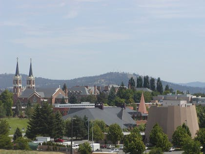 View from Hotel   Holiday Inn Express Spokane Downtown