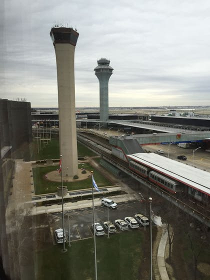 View from Hotel   Hilton Chicago O'Hare Airport