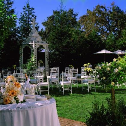 Outdoor Wedding Area | MacArthur Place
