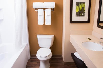 Bathroom | Extended Stay America - Raleigh - Cary - Regency Parkway S