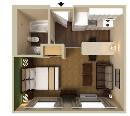 Floor plan | Extended Stay America -Orlando-Lake Mary-1040 Greenwood Blvd