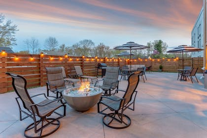 Terrace/Patio | Holiday Inn Express & Suites Scottsburg