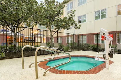 Outdoor Spa Tub | TownePlace Suites Houston Brookhollow