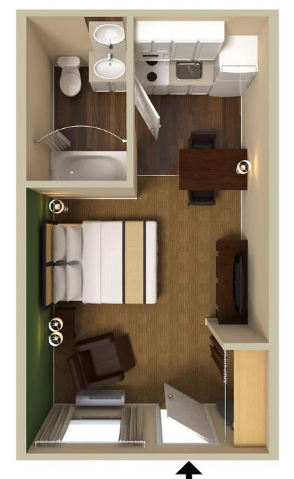 Floor plan | Extended Stay America San Jose - Mountain View