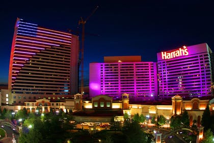 Hotel Front - Evening/Night | Harrah's Resort Atlantic City