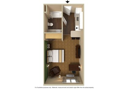 Guestroom | Extended Stay America-Minneapolis-Eden Prairie-Technology Dr
