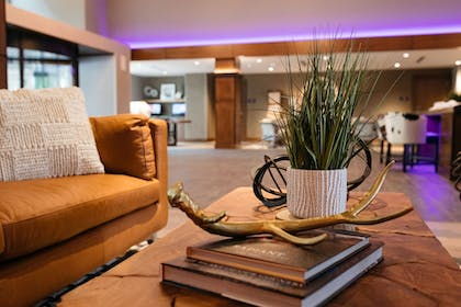 Lobby Sitting Area | Revel Hotel Des Moines Urbandale, Tapestry Collection by Hilton
