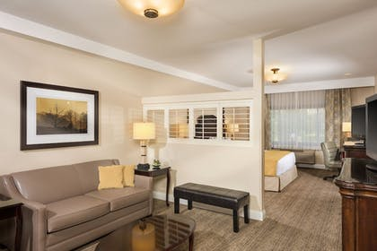 Living Area | Ayres Suites Ontario at the Mills Mall