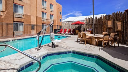 Outdoor Spa Tub   Inn at Santa Fe, SureStay Collection by Best Western