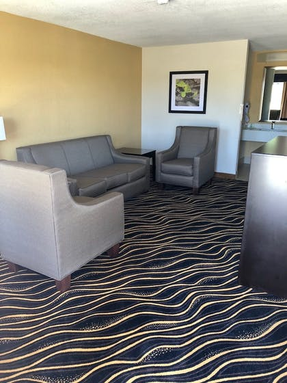Living Room | The Cattle Baron's Quality Inn Hotel & Suites Ft Worth