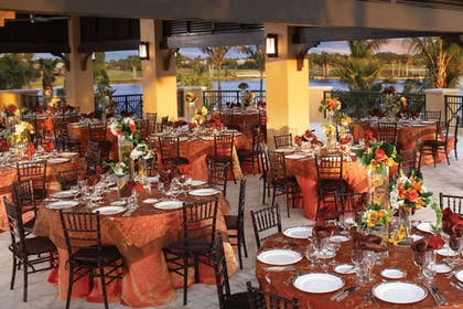 Outdoor Banquet Area | PGA National Resort and Spa