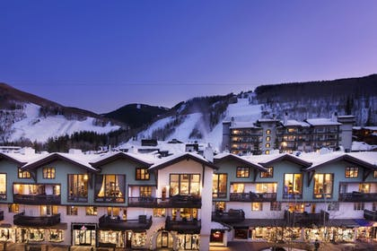 Hotel Front - Evening/Night | The Lodge at Vail, A RockResort
