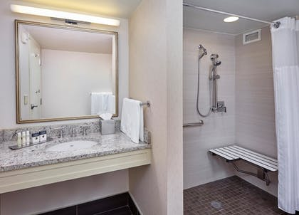 Bathroom Shower | DoubleTree by Hilton Hotel Washington DC - Crystal City