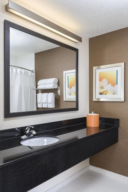 Bathroom | Fairfield Inn by Marriott Muncie