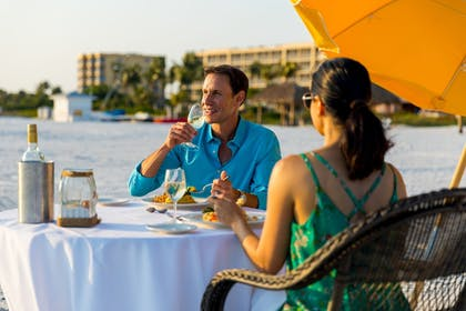 Couples Dining | Pink Shell Beach Resort and Marina