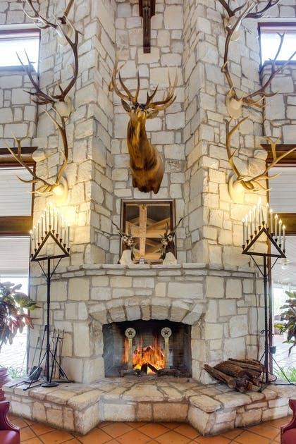 Fireplace | Y O Ranch Hotel