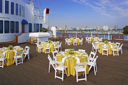 Outdoor Banquet Area   The Queen Mary