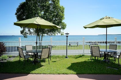 Terrace/Patio | Baymont by Wyndham St. Ignace Lakefront