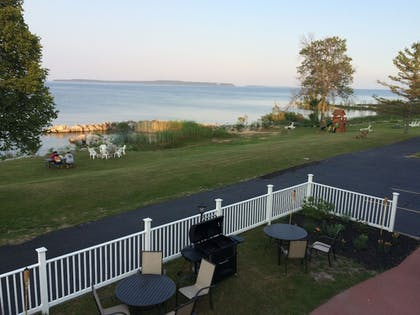 Outdoor Dining | Baymont by Wyndham St. Ignace Lakefront