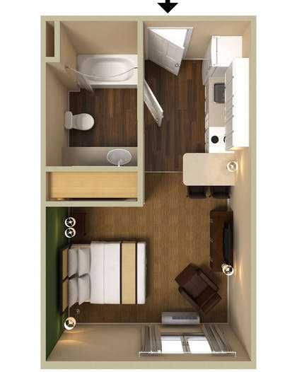 Floor plan | Extended Stay America Orange County - Cypress