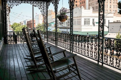 Balcony View | The Marshall House,Historic Inns of Savannah Collection