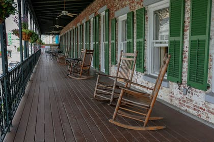 Porch | The Marshall House,Historic Inns of Savannah Collection
