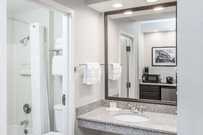 Bathroom | Baymont by Wyndham Mundelein Libertyville Area