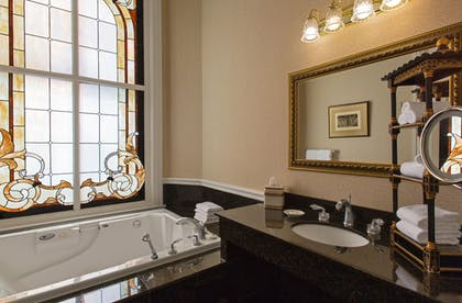 Bathroom | The Driskill - in the Unbound Collection by Hyatt
