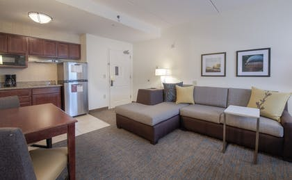 Living Area | Residence Inn By Marriott Raleigh Crabtree