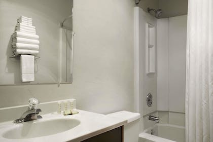 Bathroom | Super 8 by Wyndham Portland Airport