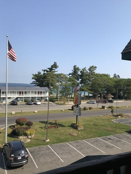 View from Hotel   Super 8 by Wyndham Bridgeview of Mackinaw City