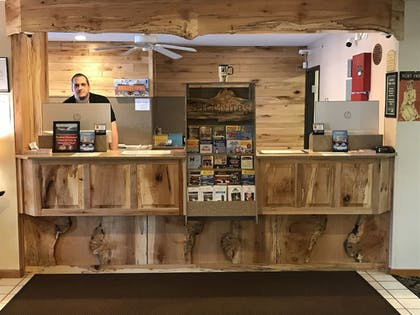 Check-in/Check-out Kiosk   Super 8 by Wyndham Bridgeview of Mackinaw City