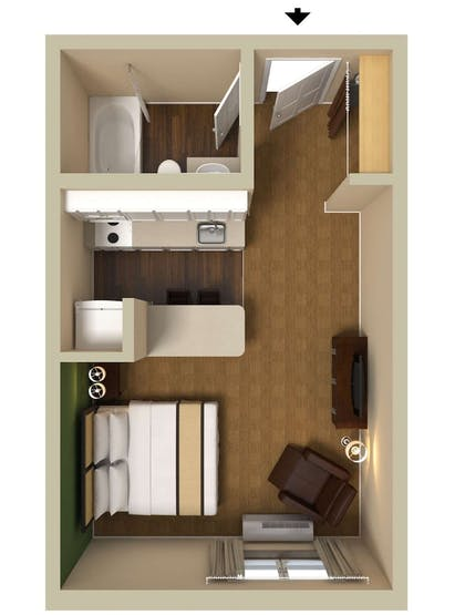Floor plan | Extended Stay America Chicago - Burr Ridge