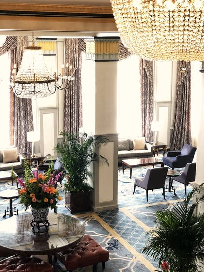 Lobby Sitting Area | The Francis Marion Hotel