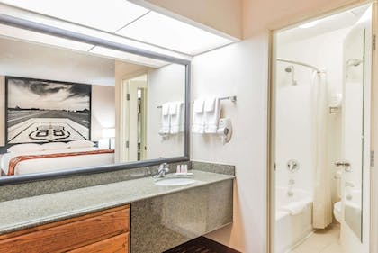 Bathroom | Super 8 by Wyndham Clovis